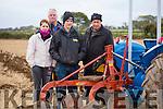 Veronica Heaslip, Tralee, James Godley, Killarney, Shane Godley, Killarney and Thomas Wharton, Ballymac at the Abbeydorney Ploughing Match at Corridan's Farm, Ballysheen on Monday