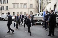 Roma, 13 ottobre 2011.Parlamentari e ministri entrano in Parlamento per l'intervento del presidente silvio Berlusconi.Nella foto:Renato Brunetta