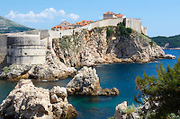Stock photos of The medieval city walls of Dubrovnik - Croatia.