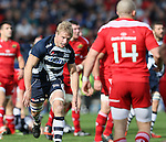 David Seymour of Sale Sharks - European Rugby Champions Cup - Sale Sharks vs Munster -  AJ Bell Stadium - Salford- England - 18th October 2014  - Picture Simon Bellis/Sportimage