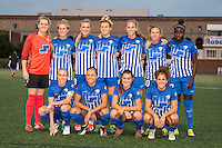 Allston, MA - Wednesday Sept. 07, 2016: Boston Breakers starting eleven during a regular season National Women's Soccer League (NWSL) match between the Boston Breakers and the Western New York Flash at Jordan Field.