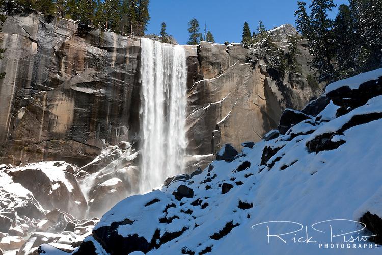 317 foot tall Vernal Falls in Yosemite National Park