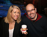 Kelly Devine and Christopher Ashley during the Press Sneak Peak for the Jimmy Buffett  Broadway Musical 'Escape to Margaritaville' on February 15, 2018 at the Marquis Theatre in New York City.