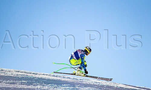 01.12.2016, Val d Isere, France.  FIS World Cup Alpine skiing , Val d Isere, Training. Henrik Von Appen of Chile in action during the 2nd practice run
