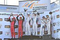 IMSA WeatherTech SportsCar Championship<br /> AMERICA'S TIRE 250<br /> Mazda Raceway Laguna Seca<br /> Monterey, CA USA<br /> Sunday 24 September 2017<br /> 62, Ferrari, Ferrari 488 GTE, GTLM, Giancarlo Fisichella, Toni Vilander, 24, BMW, BMW M6, GTLM, John Edwards, Martin Tomczyk, 911, Porsche, Porsche 911 RSR, GTLM, Patrick Pilet, Dirk Werner<br /> World Copyright: Richard Dole<br /> LAT Images<br /> ref: Digital Image RD_LS_17_304