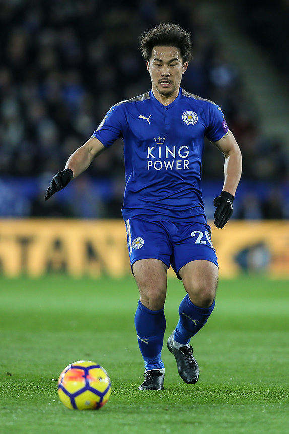Leicester City's Shinji Okazaki <br /> <br /> Photographer Andrew Kearns/CameraSport<br /> <br /> The Premier League - Leicester City v Tottenham Hotspur - Tuesday 28th November 2017  - King Power Stadium - Leicester<br /> <br /> World Copyright &copy; 2017 CameraSport. All rights reserved. 43 Linden Ave. Countesthorpe. Leicester. England. LE8 5PG - Tel: +44 (0) 116 277 4147 - admin@camerasport.com - www.camerasport.com
