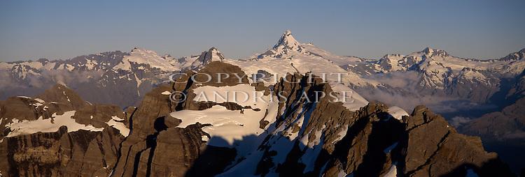 Aerial of Mount Aspiring, Mount Aspiring National Park. New Zealand.