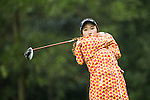 So-Young JANG of South Korea tees off at the 14th hole during Round 1 of the World Ladies Championship 2016 on 10 March 2016 at Mission Hills Olazabal Golf Course in Dongguan, China. Photo by Victor Fraile / Power Sport Images