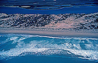 Aerial over coastline in Australia's west coast