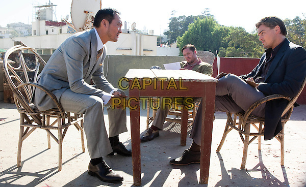 KEN WATANABE, TOM HARDY .& LEONARDO DiCAPRIO.in Inception.di caprio.*Filmstill - Editorial Use Only*.CAP/FB.Supplied by Capital Pictures.