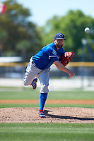 Toronto Blue Jays Drew Storen (45) during a minor league Spring Training game against the New York Yankees on March 22, 2016 at Englebert Complex in Dunedin, Florida.  (Mike Janes/Four Seam Images)