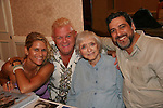 "Lesley (daughter of Lee Meriwither - AMC), Johnny Whitaker ""Scotty Baldwin"" GH and Family Affair & Celeste Holm - Loving & husband Frank at 4th Annual Mid-Atlantic Nostalgia Convention in Aberdeen, Maryland. (Photo by Sue Coflin/Max Photos)"