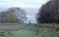 Nederland Warmenhuizen 2019. Winter in Warmenhuizen. Nachtvorst.  Foto Berlinda van Dam/ Hollandse Hoogte