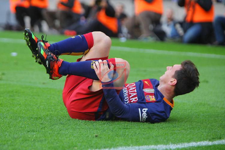 League BBVA 2015/2016 -Game: 22.<br /> FC Barcelona vs Atletico de Madrid: 2-1.<br /> Lionel Messi.