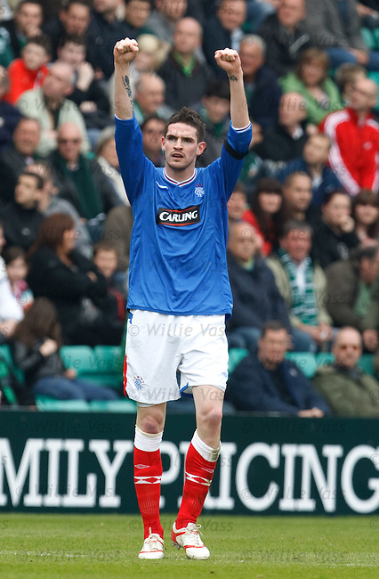 Kyle Lafferty scores for Rangers and celebrates