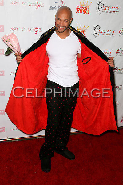 STEPHEN BISHOP.  Decked out in pajamas, celebrities arrive to Bowling After Dark, an event to benefit the Carol M. Baldwin Breast Cancer Research Fund, at Pinz Bowling Center in Studio City, CA, USA. February 13, 2010.