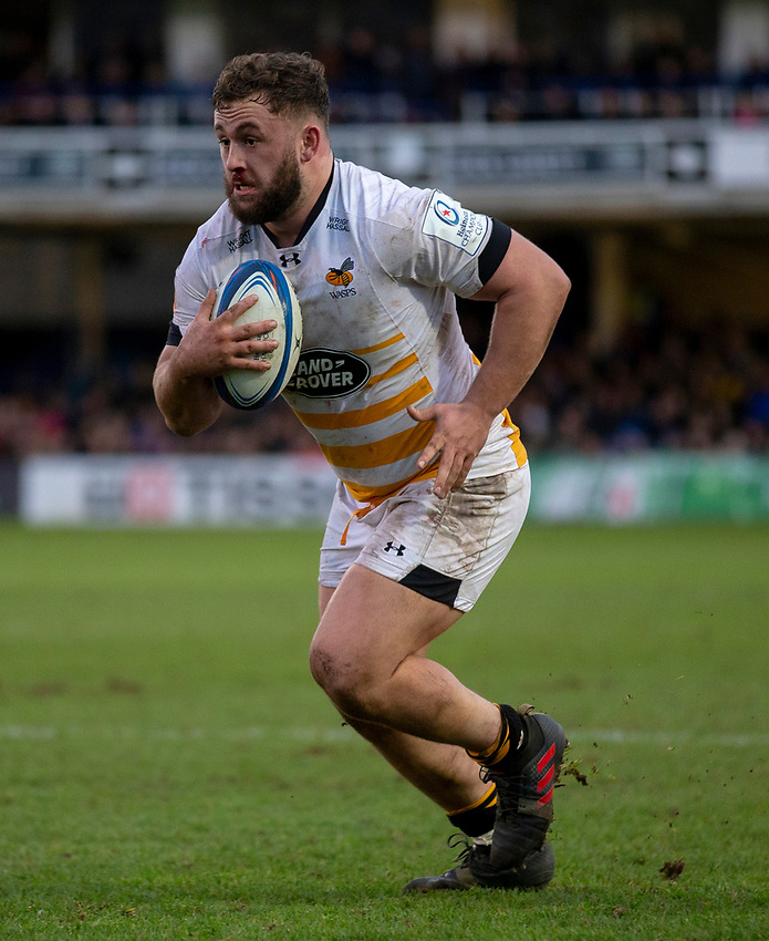 Wasps' Will Stuart<br /> <br /> Photographer Bob Bradford/CameraSport<br /> <br /> European Rugby Heineken Champions Cup Pool 1 - Bath Rugby v Wasps - Saturday 12th January 2019 - The Recreation Ground - Bath<br /> <br /> World Copyright © 2019 CameraSport. All rights reserved. 43 Linden Ave. Countesthorpe. Leicester. England. LE8 5PG - Tel: +44 (0) 116 277 4147 - admin@camerasport.com - www.camerasport.com