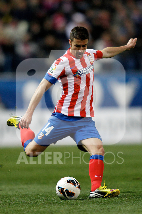 Atletico de Madrid's Gabi Fernandez during La Liga  match. February 24,2013.(ALTERPHOTOS/Alconada)