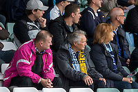 Wycombe fans during the Sky Bet League 2 match between Yeovil Town and Wycombe Wanderers at Huish Park, Yeovil, England on 8 October 2016. Photo by Mark  Hawkins / PRiME Media Images.