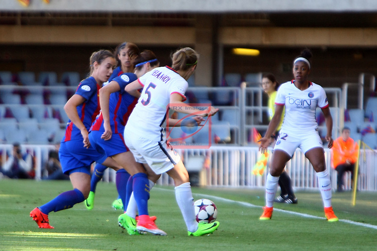 UEFA Women's Champions League 2016/2017.<br /> Semifinals.<br /> FC Barcelona vs Paris Saint Germain: 1-3.<br /> Vicky Losada vs Sabrina Delannoy.