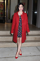 NEW YORK, NY - FEBRUARY 13: Lucy Hale sen exiting Buzzfeed AM To DM on February 13, 2020 in New York City.  <br /> CAP/MPI/EN<br /> ©EN/MPI/Capital Pictures