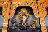 Buddhas inside a temple at the Huayan Monastery, Datong, China
