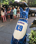 &ldquo;Hoops&rdquo;, the Chicago K9s for Cops statue sponsored by DePaul University, keeps an eye on the tourists as she sits outside the Chicago Athletic Association hotel at 12 S. Michigan Ave. The 54-inch-tall fiberglass dog statue is part of the K9s for Cops campaign that recognizes the work of the city&rsquo;s canine police unit and honors fallen Chicago police officers wounded or killed in the line of duty. The campaign is also raising money and awareness for PAWS Chicago, Chicagoland&rsquo;s largest No Kill animal shelter. More than 100 of the statues will be on display through Labor Day and can be seen all along Michigan Ave. in the downtown area. <br /> (DePaul University/Jamie Moncrief)