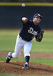 UC Davis' Alex Sachs pitches against the Washington Huskies in a college baseball game in Davis, Ca., on Saturday, Feb. 16, 2013. Davis won the opener 6-5 and dropped the second game 3-2..Photo by Cathleen Allison