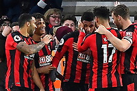 Lys Mousset of AFC Bournemouth is mobbed after scoring the second goal during AFC Bournemouth vs Stoke City, Premier League Football at the Vitality Stadium on 3rd February 2018