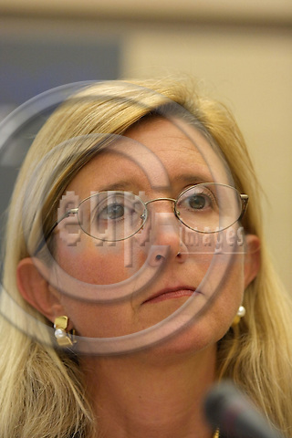 BRUSSELS - BELGIUM - 19 OKT. 2002 -- Marta Andreasen, 57, suspended accounting officer at the European Commission.  PHOTO: EUP-IMAGES.COM / ERIK LUNTANG.