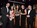 Bari Crinion, Jordana Black, Catherine Donegan, Eilish Murtagh and Shane Martin pictured at the Business Excellence Awards in Earth Night Club at the Westcourt Hotel. Photo:Colin Bell/pressphotos.ie