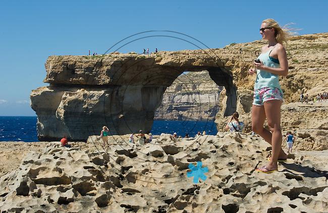 Das beeindruckende Azure Window auf der Insel Gozo - das Naturmonument st&uuml;rzte w&auml;hrend einer Sturmflut am 08.03.2017 ein. (Republik Malta).   Foto: aif / Norman Rembarz<br /> <br /> Jegliche kommerzielle wie redaktionelle Nutzung ist honorar- und mehrwertsteuerpflichtig! Pers&ouml;nlichkeitsrechte sind zu wahren. Es wird keine Haftung &uuml;bernommen bei Verletzung von Rechten Dritter. Autoren-Nennung gem. &sect;13 UrhGes. wird verlangt. Weitergabe an Dritte nur nach  vorheriger Absprache. Online-Nutzung ist separat kostenpflichtig.
