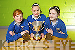 2nd year students from Colaiste Ide agus Iosef, Abbeyfeale who were all ireland debating champions, pictured here last Friday was Patricia Murphy, team captain Laura O'Donoghue and Niamh Morris.