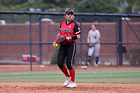 GREENSBORO, NC - MARCH 11: Kenny Litana #12 of Northern Illinois University fields the ball at shortstop during a game between Northern Illinois and UNC Greensboro at UNCG Softball Stadium on March 11, 2020 in Greensboro, North Carolina.