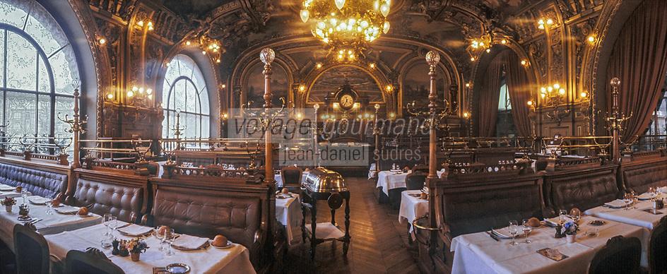 """Europe/France/Ile-de-France/Paris: """"BELLE-EPOQUE"""" - Restaurant """"Le Train Bleu"""" Gare de Lyon<br /> PHOTO D'ARCHIVES // ARCHIVAL IMAGES<br /> FRANCE 1990"""