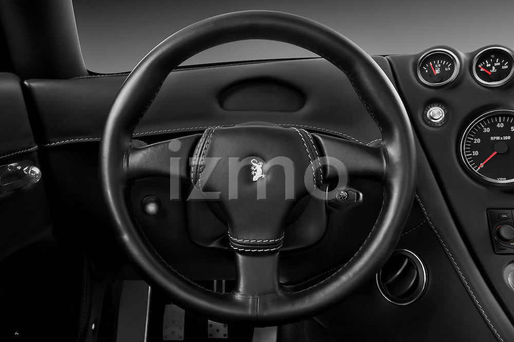 Steering wheel view of a 2009 - 2014 Wiesmann MF4 GT 2 Door Coupe
