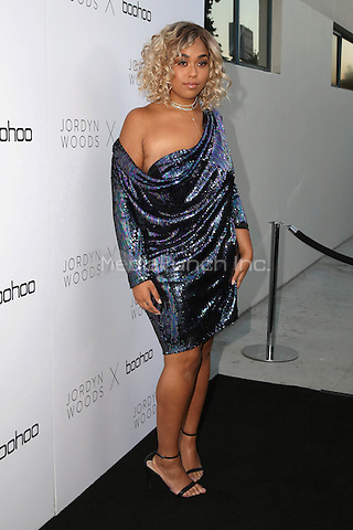 WEST HOLLYWOOD, CA - AUGUST 31: Jordyn Woods at the Jordyn Woods x boohoo Launch Party! at Neuehouse in West Hollywood, California on August 31, 2016. Credit: David Edwards/MediaPunch