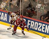Willie Raskob (UMD - 15), Ryan Donato (Harvard - 16) - The University of Minnesota Duluth Bulldogs defeated the Harvard University Crimson 2-1 in their Frozen Four semi-final on April 6, 2017, at the United Center in Chicago, Illinois.