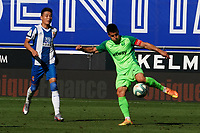 5th July 2020; RCDE Stadium, Barcelona, Catalonia, Spain; La Liga Football, Real Club Deportiu Espanyol de Barcelona versus Leganes;  Bustinza clears the ball away from Wu Lei of Espanyol