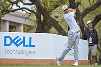 Rafael Cabrera Bello (ESP) watches his tee shot on 1 during day 3 of the World Golf Championships, Dell Match Play, Austin Country Club, Austin, Texas. 3/23/2018.<br /> Picture: Golffile | Ken Murray<br /> <br /> <br /> All photo usage must carry mandatory copyright credit (&copy; Golffile | Ken Murray)