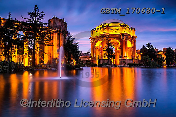 Tom Mackie, LANDSCAPES, LANDSCHAFTEN, PAISAJES, photos,+America, American, Americana, California, North America, Palace of Fine Arts, Presidio Park, San Francisco, Tom Mackie, USA,+blue, blue hour, colorful, colourful, destination, destinations, destinatons, evening, fountain, gold, golden, holiday destin+ation, horizontal, horizontals, landscape, landscapes, night time, nightscene, reflecting, reflection, reflections, time of d+ay, tourist attraction, travel, twilight, water, water's edge, waterside, weather & time of,America, American, Americana, Cal+,GBTM170680-1,#l#, EVERYDAY