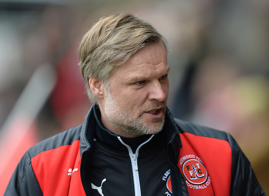 Fleetwood Town's Manager Steven Pressley<br /> <br /> Photographer Dave Howarth/CameraSport<br /> <br /> Football - The Football League Sky Bet League One - Fleetwood Town v Barnsley - Saturday 19th March 2016 - Highbury Stadium - Fleetwood    <br /> <br /> &copy; CameraSport - 43 Linden Ave. Countesthorpe. Leicester. England. LE8 5PG - Tel: +44 (0) 116 277 4147 - admin@camerasport.com - www.camerasport.com