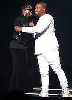 NEW YORK, NY - SEPTEMBER 4, 2016 Puff Daddy & Kanye West performs at the Bad Boy Reunion Concert at Madison Square Garden, September 4, 2016 in New York City. Photo Credit: Walik Goshorn / Mediapunch