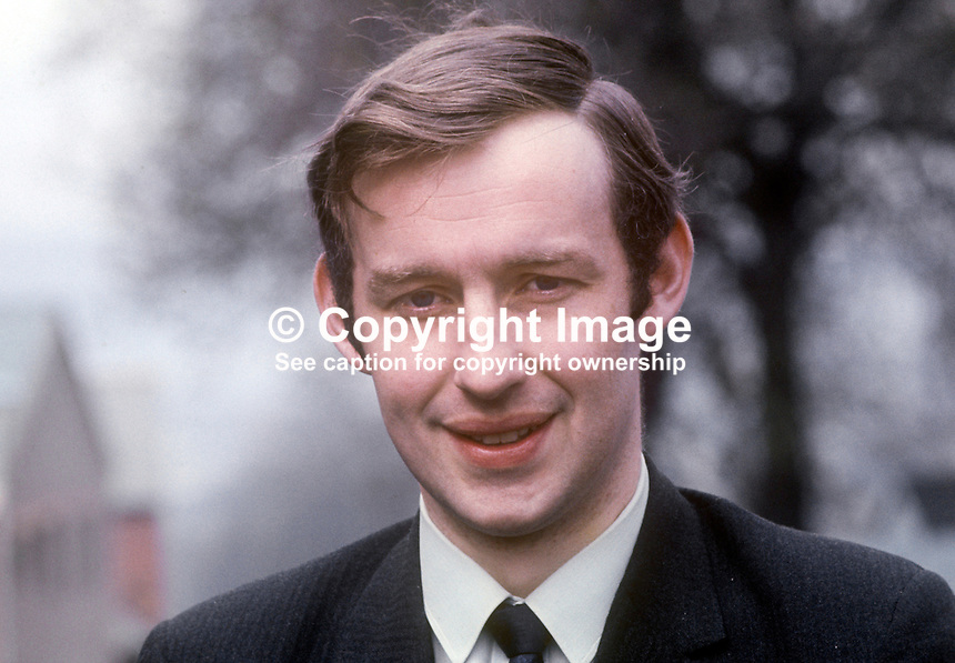 David Corkey, candidate, Independent, Bannside, by-election, N Ireland Parliament, April, 1970, 197003000105<br />