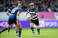 Ross Batty of Bath Rugby in possession. European Rugby Challenge Cup Semi Final, between Stade Francais and Bath Rugby on April 23, 2017 at the Stade Jean-Bouin in Paris, France. Photo by: Patrick Khachfe / Onside Images