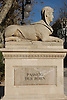 One of the four Sphinxes (known as &quot;The lions of the Borne&quot;, 1833, stone of Santanyi) by Jacint Mateu, Paseo del Borne<br /> <br /> Una de las cuadro esfinges (conocidas como &quot;Las Leonas del Borne&quot;, 1833, mar&eacute;s de Santany&igrave;) de Jacint Mateu, en el Paseo del Borne<br /> <br /> Eine der vier Sphinxen (bekannt als &quot;Las Leonas del Borne&quot;, 1833, Stein aus Santanyi) von Jacint Mateu am Paseo del Borne<br /> <br /> 3008 x 2000 px<br /> 150 dpi: 50,94 x 33,87 cm<br /> 300 dpi: 25,47 x 16,93 cm