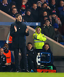 27.02.2019: Rangers v Dundee: Steven Gerrard tries to get his side up to speed during the second half