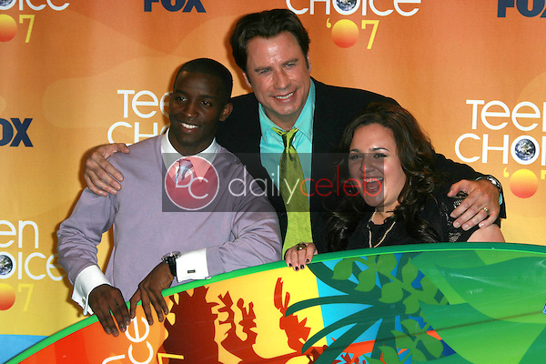 Elijah Kelley with John Travolta and Nikki Blonsky<br />