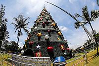 SAO PAULO, SP, 02.12.2013 - NATAL ILUMINADO 2013 - ARVORE IBIRAPUERA - Estrela da tradicional Arvore de Natal do Parque do Ibirapuera e instalada nesta segunda-feira, 02. (Foto: Vanessa Carvalho / Brazil Photo Press).