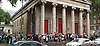 Andy Burnham Labour Leadership campaign rally at St Pancras Parish Church, Euston Rd, London, Great Britain <br /> <br /> 24th August 2015<br /> <br /> Activists queue outside the church <br /> <br /> <br /> Photograph by Elliott Franks <br /> <br /> Image licensed to Elliott Franks Photography Services